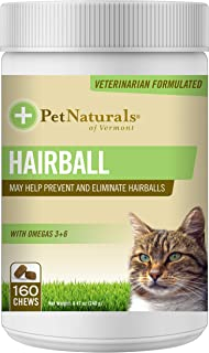 Pet Naturals of Vermont - Hairball, Daily Digestive, Skin and Coat Support for Cats, 160 Bite-Sized Chews