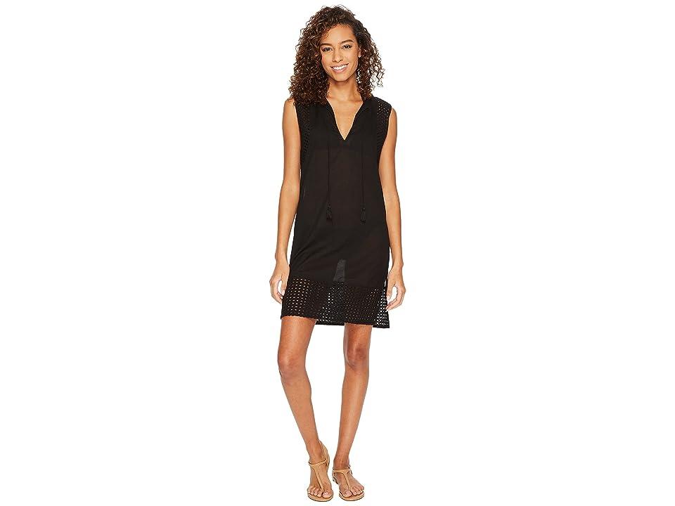 Echo Design Eyelet Breeze Tunic Cover-Up (Black) Women
