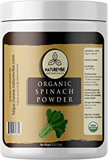 Naturevibe Botanicals Organic Spinach Powder, 1lbs   Non-GMO and Gluten Free   Rich in Vitamins   Boost Immune System.