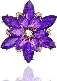 مجموعة SP صوفيا للنساء خاتم مطاطي على شكل عقدة كريستال متلألئة