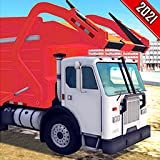 Simulatore di camion con cassone ribaltabile di immondizia pesante su strada cittadina americana reale: giochi di guida di camion della spazzatura definitivi 2021