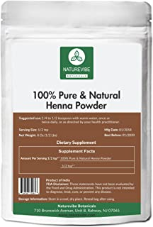 Sponsored Ad - 100% Pure & Natural Henna Powder (1/2lb) by Naturevibe Botanicals, For Hair Color (8 ounces)