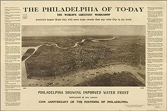 20x30 Poster; Map Of Philadelphia World'S Workshop 1908 (Resize Attempted)