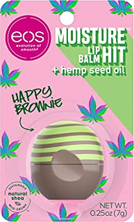 eos Moisture Hit Lip Balm - Happy Brownie and Happy Herb | Soothing Hemp Seed Oil | Lip Care to Moisturize Dry Lips | Glut...