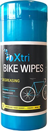 Jasmine Seven Xtri Bike Wipes - 45 Degreasing Wipes – Natural Peppermint