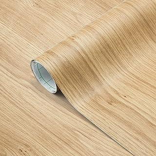 Losu Houtbehang folie zelfklevend hout kleeffolie meubelfolie 61 x 500 cm behang keukenfolie muursticker sticker van PVC t...
