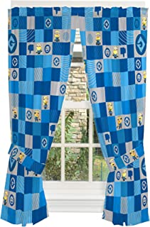 Universal Despicable Me 3 Minions Kids Room Window Curtain Panels with Tie Backs 82