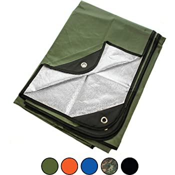 "Arcturus Heavy Duty Survival Blanket - Insulated Thermal Reflective Tarp - 60"" x 82"". All-Weather, Reusable Emergency Blanket for Car or Camping. Thermal Barrier Blocks Infrared Signature"