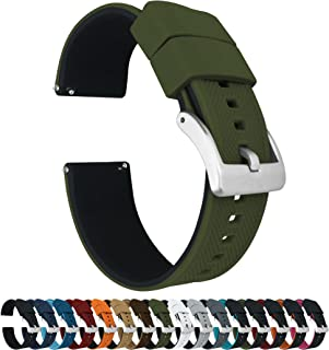 Elite Silicone Watch Straps - Quick Release - Choose Color & Width - 18mm, 19mm, 20mm, 21mm, 22mm, 23mm & 24mm - Textured Rubber Watch Straps