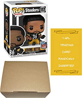 Funko Jerome Bettis Pittsburgh Steelers Pop! Vinyl Figure Bundle with 1 NFL Trading Card & 1 Cardboard Protector Box