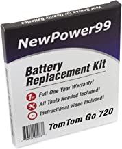 NewPower99 Battery Replacement Kit with Battery, Video Instructions and Tools for Tomtom Go 720