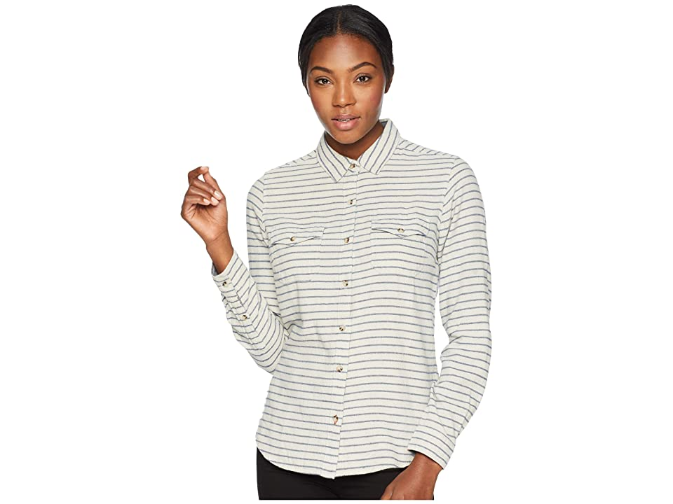 Toad&Co Indigo Skye Long Sleeve Shirt (Oatmeal Stripe) Women