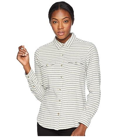 Toad&Co Indigo Skye Long Sleeve Shirt (Oatmeal Stripe) Women