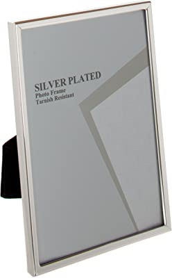 Viceni UNPF23-57 Silver Plated Thin Edge Photo Frame, 5 by 7-Inch, 5 x 7