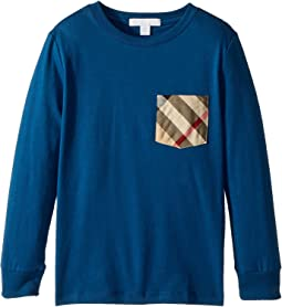 Burberry Kids - Long Sleeve Tee w/ Check Pocket (Little Kids/Big Kids)