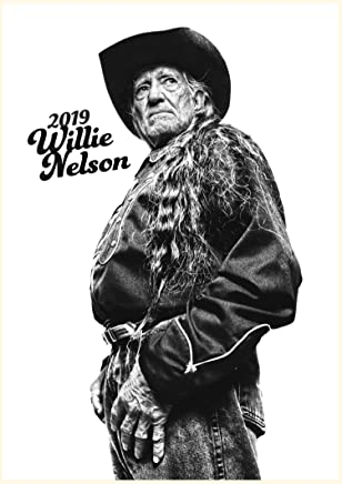 Pixiluv Calendario da Parete 2019 [12 Pagine 20,3 x 27,9 cm] Willie Nelson Folk Country Music Vintage e Poster