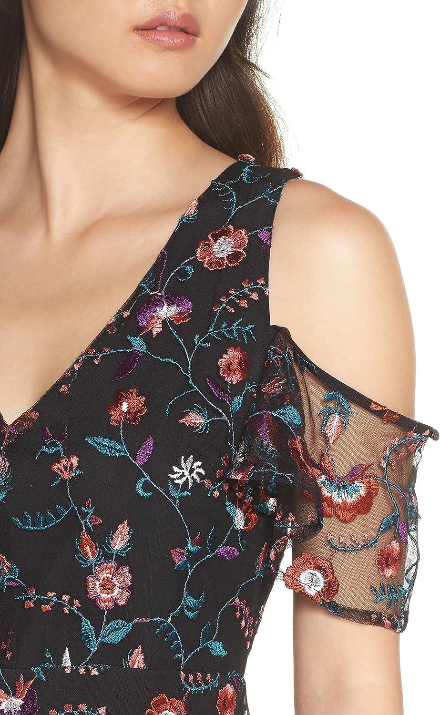 Sam Edelman Women's Floral Embroidered Mesh Midi Dress