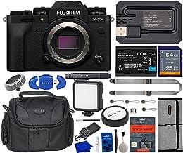 Fujifilm X-T4 Mirrorless Digital Camera Bundle with 64GB SDXC Card, Extra Battery, Peak Design Strap, LED Light, Screen Pr...