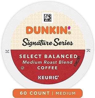 Dunkin' Donuts Signature Series Select Balanced Blend Medium Dark Roast Coffee, 10 K Cups for Keurig Coffee Makers