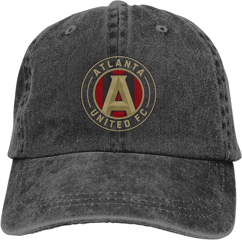 Atlanta United Racer Baseball Hat Men's Adjustable Stretch Trucker Cap Classic Cowboy Dad Cap,Comfortable and Breathable, Summer Outdoor Sunscreen Running Cap Black