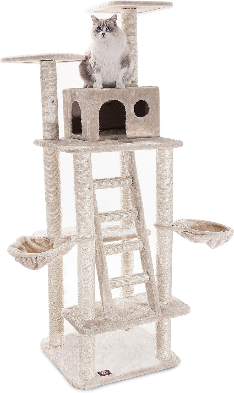 Majestic 40% OFF Cheap Sale Pet Ranking TOP1 Products 72 inch Beige H Furniture Casita Cat Condo