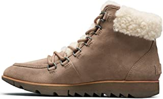 Women's Harlow Lace Cozy Winter Boot with Shearling Collar, Ash Brown