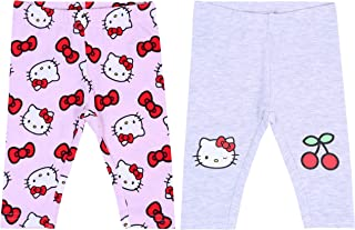Pink Leggings for Baby Girls Hello Kitty 2 x Grey
