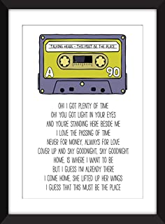 Talking Heads This Must Be The Place Lyrics Unframed Print