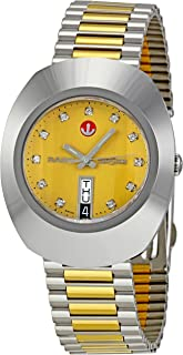 Rado Men's Two Tone Stainless Gold Dial Watch - R12408633