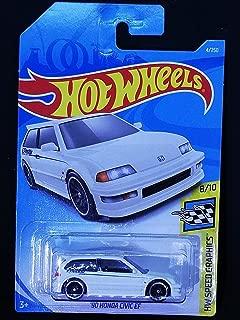 Hot Wheels 2019 Hw Speed Graphics 8/10 - '90 Honda Civic EF (White)