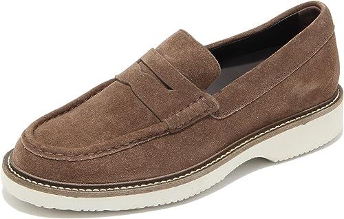 0723L mocassÃni hombres marróni HOGAN h217 route zapatos loafers zapatos men