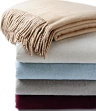 CUDDLE DREAMS Exclusive Mulberry Silk Throw Blanket with Fringe, Naturally Soft, Breathable (Taupe)
