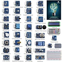 SunFounder Ultimate Sensor Kit for Arduino UNO R3 Mega2560 Mega328 Nano - Including 98 Page Instructions Book