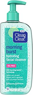 Clean & Clear Morning Burst Oil-Free Hydrating Facial Cleanser with Cucumber & Green Mango Extract, Gentle Daily Face Wash...