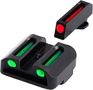 TRUGLO Fiber-Optic Front and Rear Handgun Sights for Glock Pistols