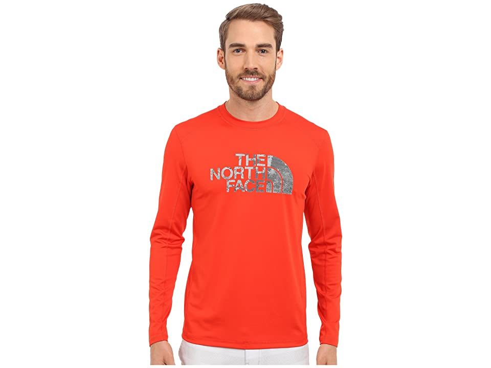 The North Face Long Sleeve Sink or Swim Rashguard (Fiery Red/Asphalt Grey Moss Print (Prior Season)) Men