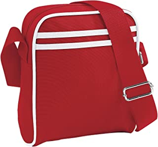 Bagbase Retro Stripe Mini Reporter Bag (2 Litres) (Pack of 2)