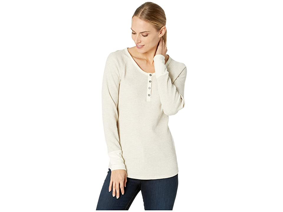 Columbia Along The Gorge Thermal Henley (Light Bisque/Light Heather Grey) Women