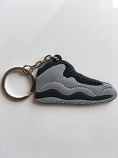 Jordan Retro 10 Lady Of Liberty Sneaker Keychain Shoes Keyring AJ 23 OG