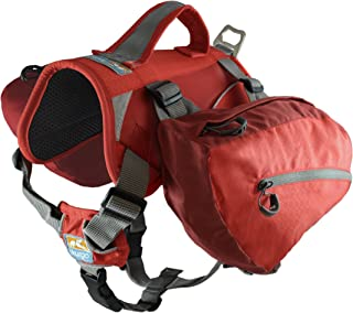 Kurgo Dog Saddlebag Backpack | Back Pack Dog Harness | Hiking Pack for Dogs | Packs for Pets to Wear | Camping & Travel Vest Harness | Reflective | Lightweight | Baxter Pack | For Medium & Large Pets