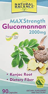 Natural Balance Max Strength Glucomannan 2000 Mg Supplements, 90 Count