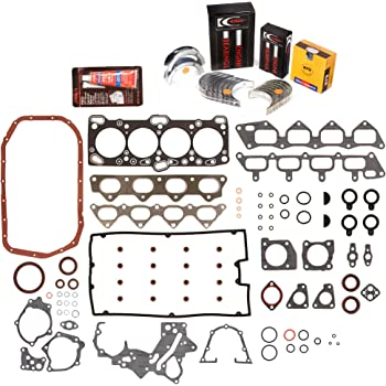 0.25mm Evergreen Engine Rering Kit FSBRR5007EVE\2\1\1 Fits 93-94 Eagle Mitsubishi Turbo 2nd Gen 4G63T Full Gasket Set 0.010 Oversize Main Rod Bearings 0.50mm 0.020 Oversize Piston Rings