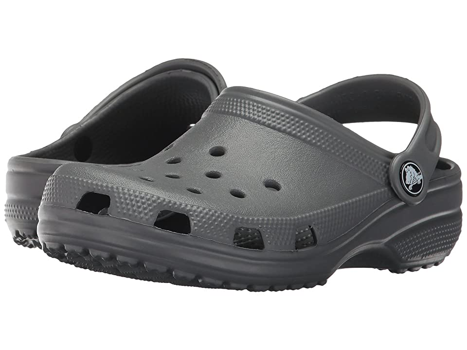 Crocs Kids Classic Clog (Toddler/Little Kid) (Slate Grey) Kids Shoes