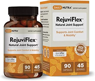 RejuviFlex by DailyNutra - Natural Joint Supplement for Men & Women - Supports Joint and Knee Pain Relief | Featuring Apre...