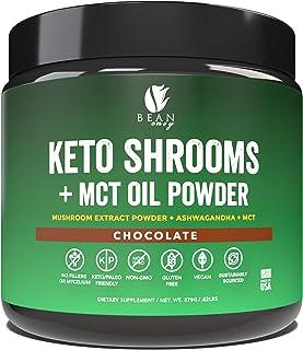 Bean Envy Keto Shrooms – Mushroom Extract Root Powder + MCT Oil Powder + Ashwagandha – Perfect for Keto, Immunity Boost, W...