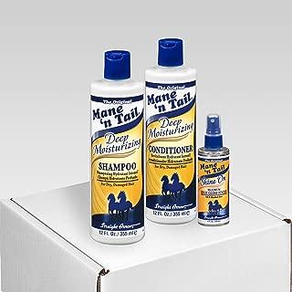 Mane 'n Tail For Distressed Hair Deep Moisture 12 Ounce Shampoo Deep Moisture 12 Ounce Conditioner/Shine On 4 Ounce