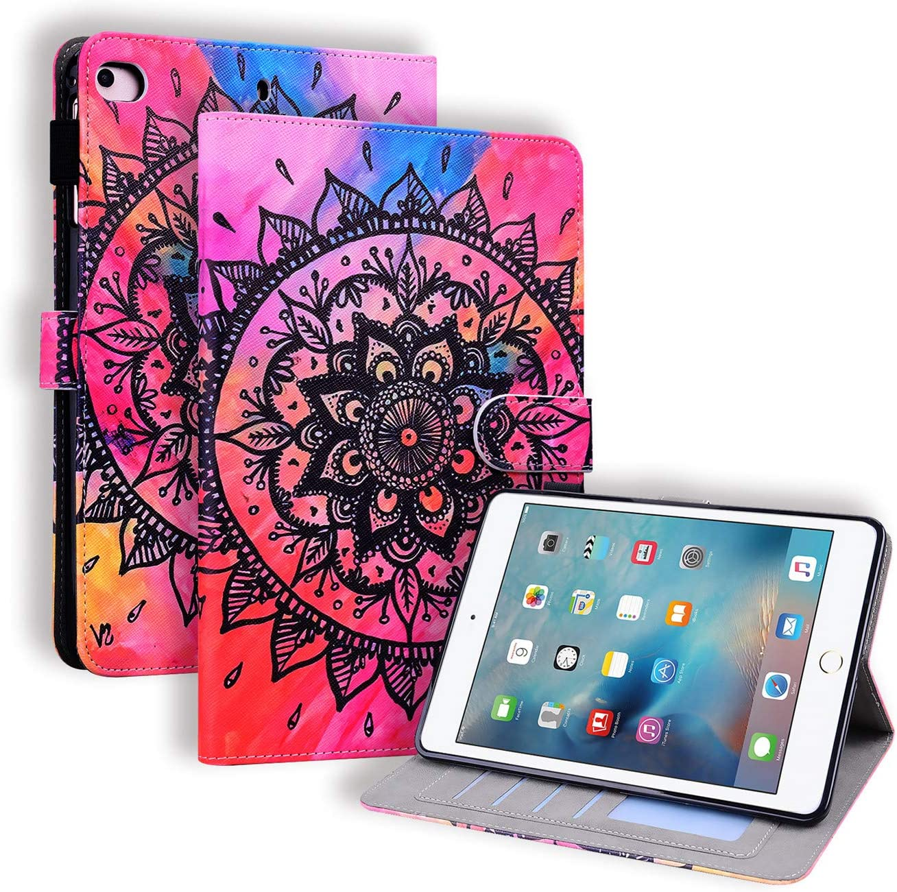 APLLEN Suitable for iPad Mini Year-end gift Seasonal Wrap Introduction 5 Case 4 S Tablet Wallet Flip