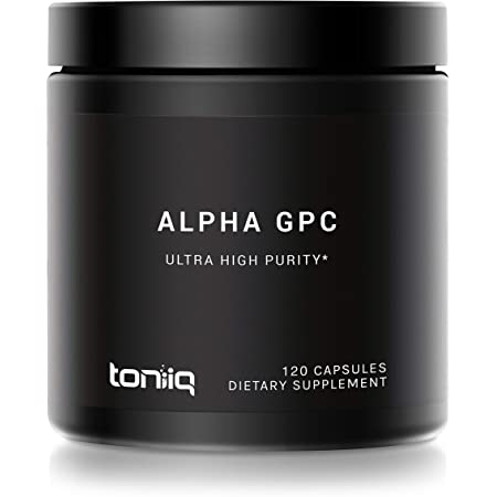 Ultra High Purity Alpha GPC Capsules - 600mg Concentrated Formula - 99%+ Highly Purified and Highly Bioavailable Nootropic - 120 Capsules Alpha GPC Supplement