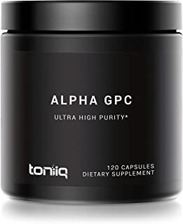 Ultra High Purity Alpha GPC Capsules - 600mg Concentrated Formula - 99%+ Pharmaceutical Grade for Enhanced Absorption - Na...