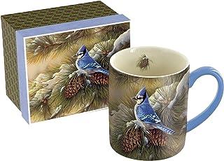 Lang December Blue Jay Mug by Rosemary Millette, 14 oz., Multicolored